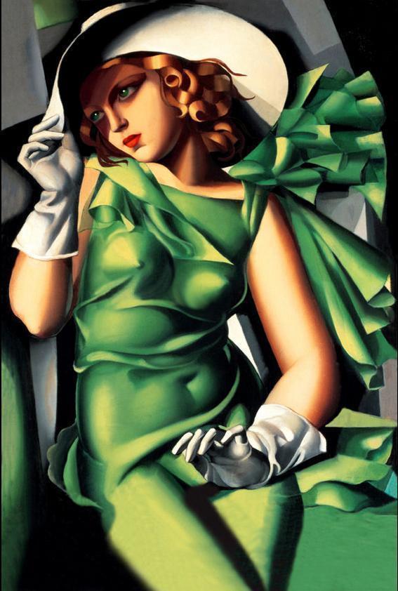 Girl in gloves, 1930