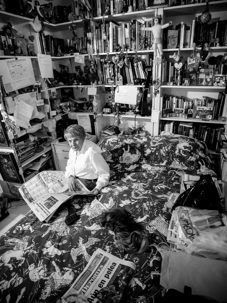 Sofía Ímber en su habitación. Foto: Ricardo Gómez Pérez