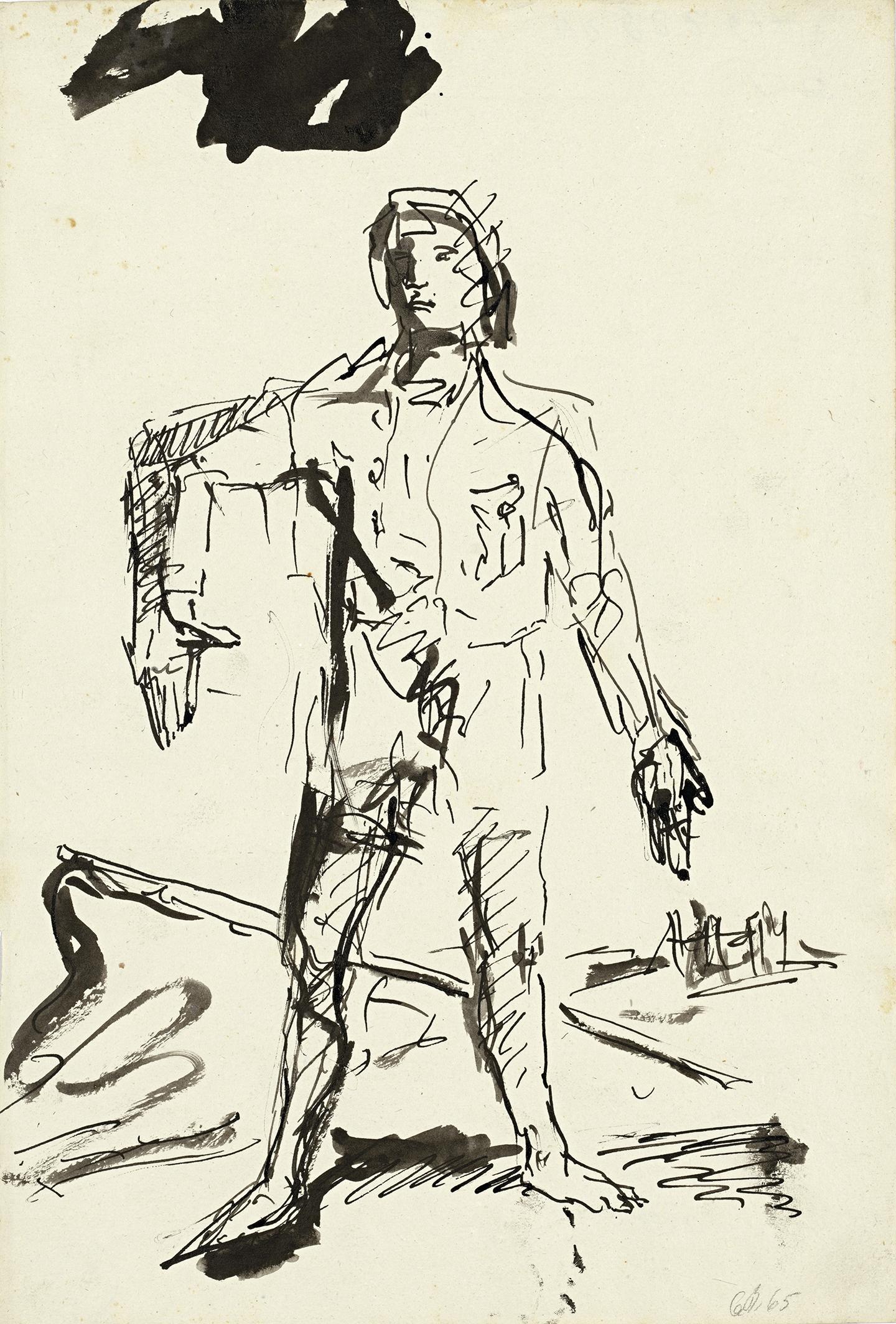 Georg Baselitz, Ein neuer Typ (Un nuevo tipo), 1965