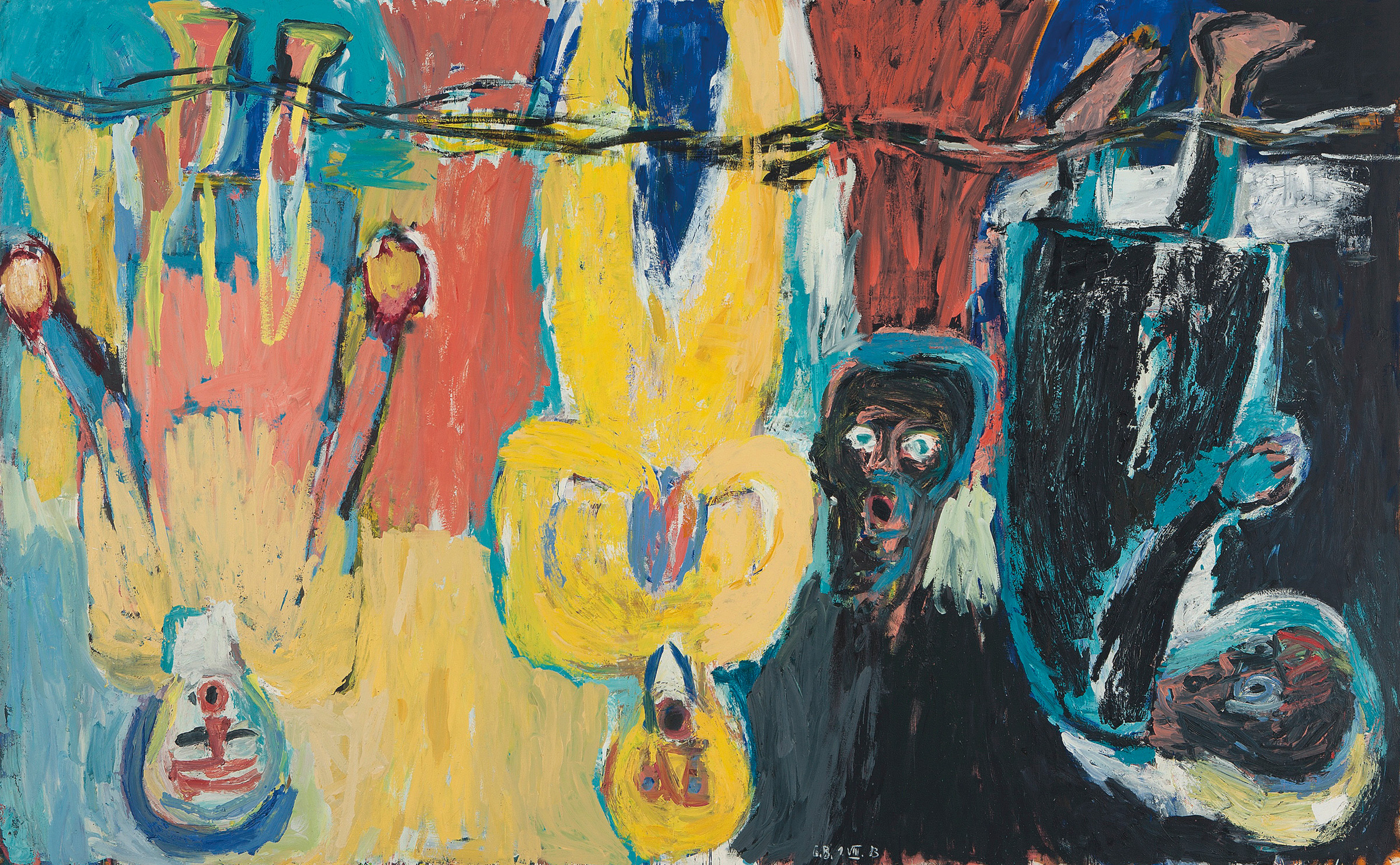 Georg Baselitz, The Brüke Chorus, 1983