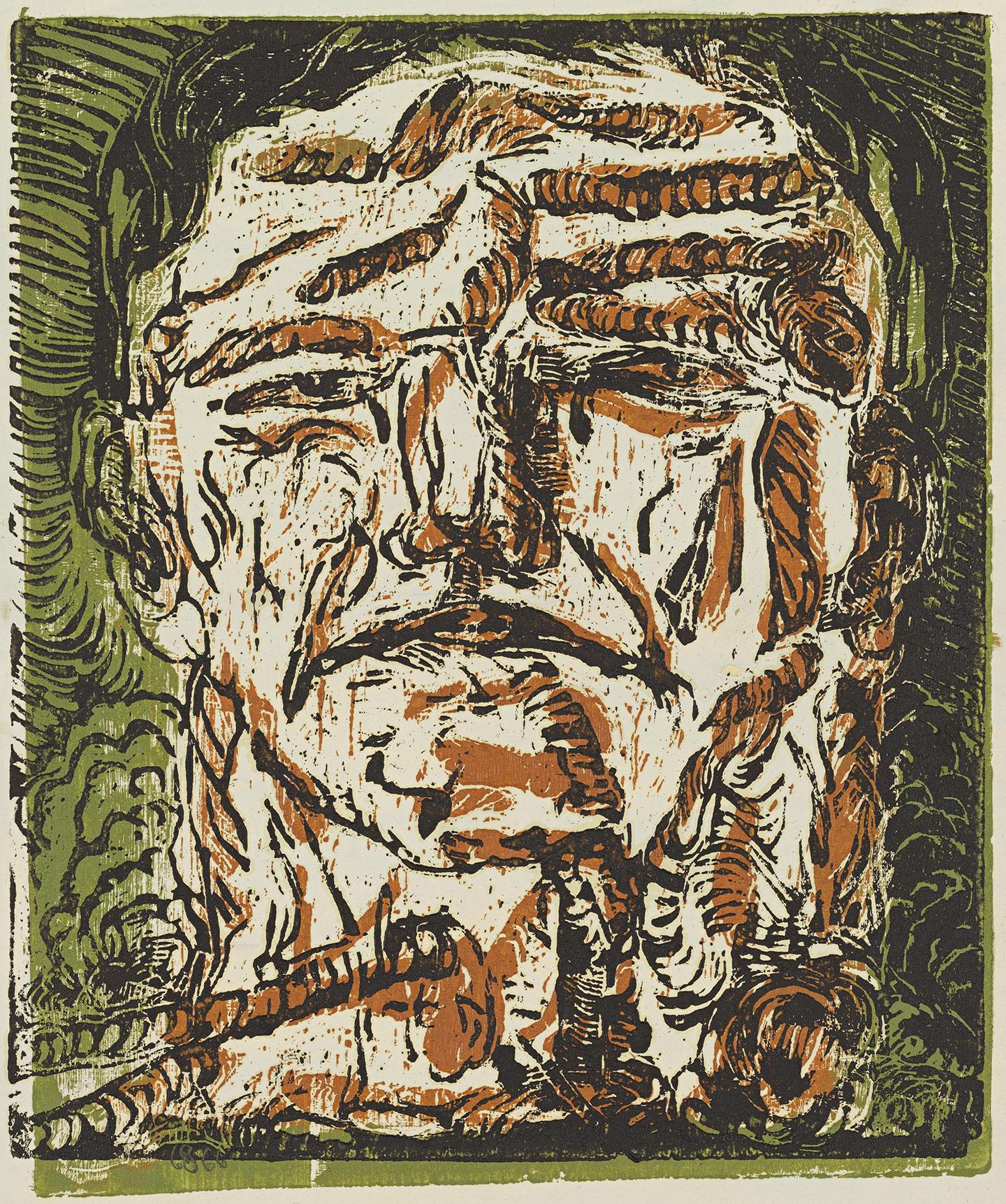 Georg Baselitz. Großer Kopf Large Head, 1966