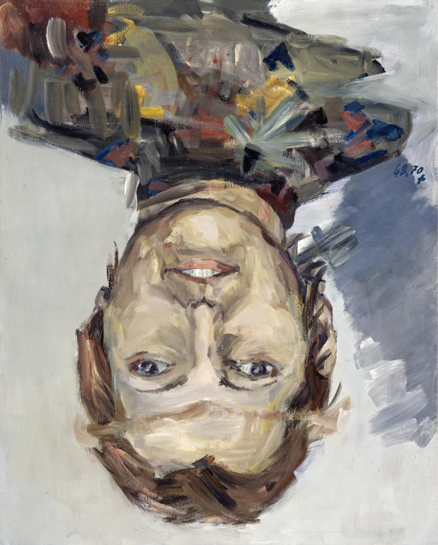 Georg Baselitz. Porträt Thordis Möller (Retrato de Thordis Möller), 1970
