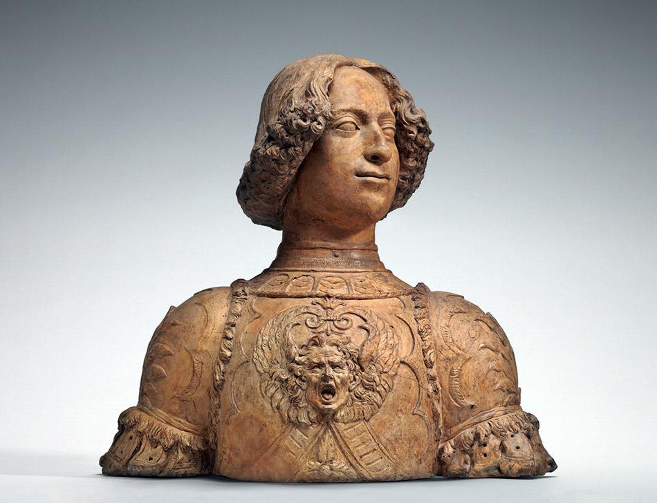 Andrea del Verrocchio (Florentine, 1435 - 1488), Giuliano de' Medici, c. 1475/1478, terracotta, Andrew W. Mellon Collection 1937.1.127