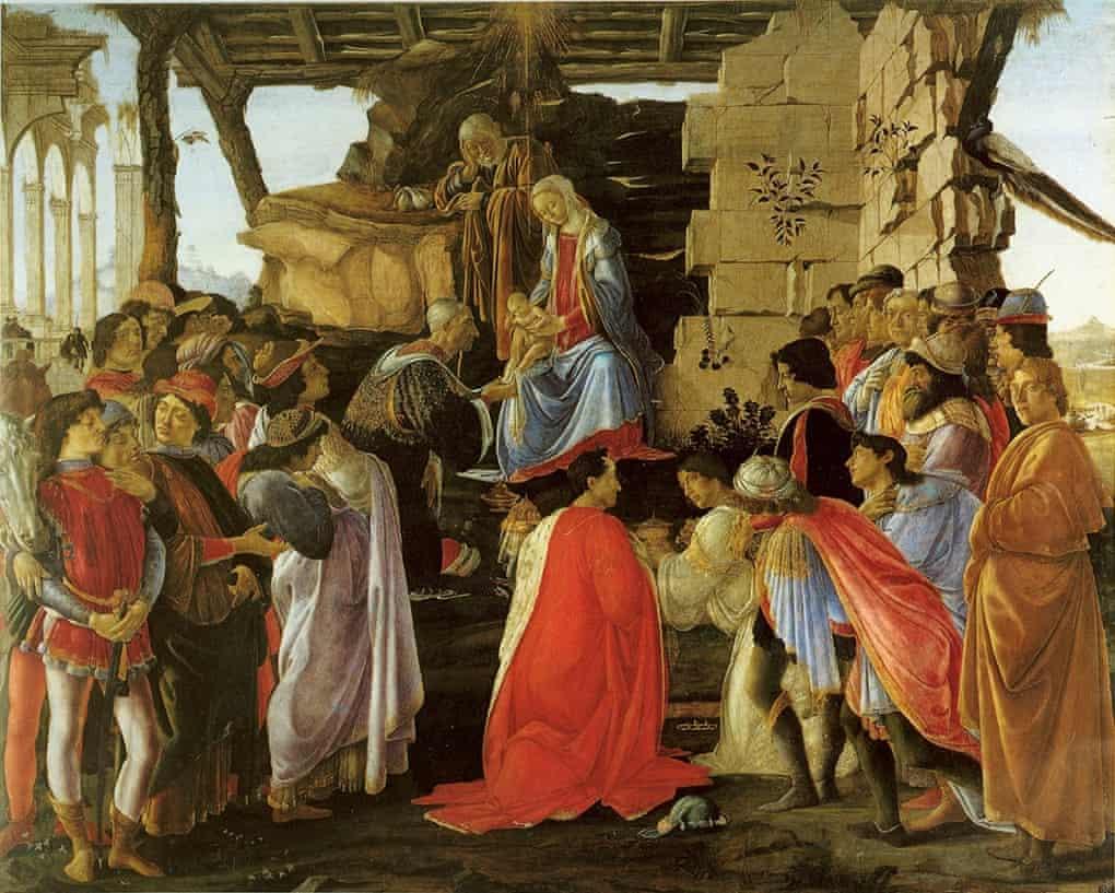 Botticelli, Adoración de los reyes magos. Galería Uffizi, Florencia
