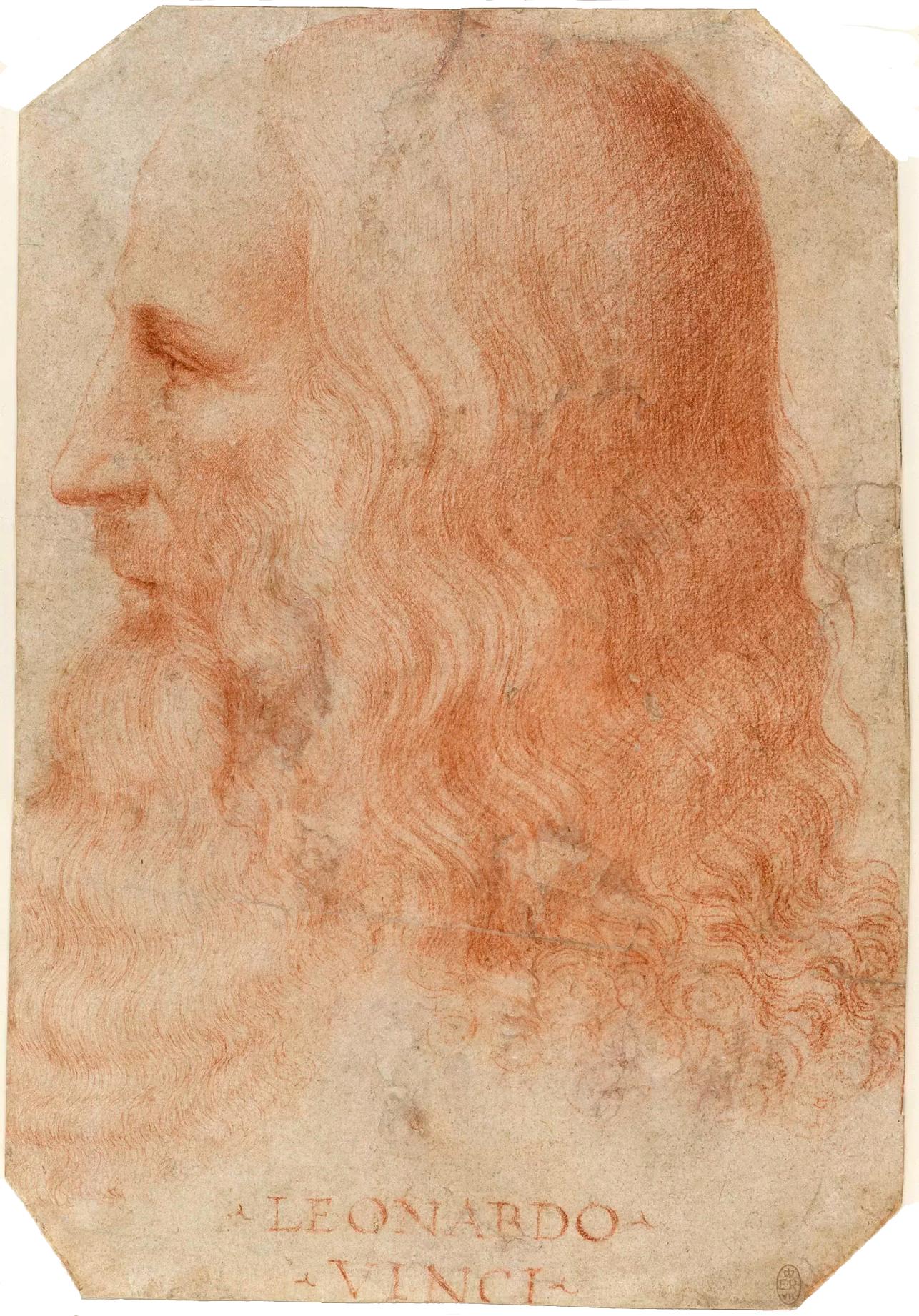 Retrato de leonardo por Francesco Melzi