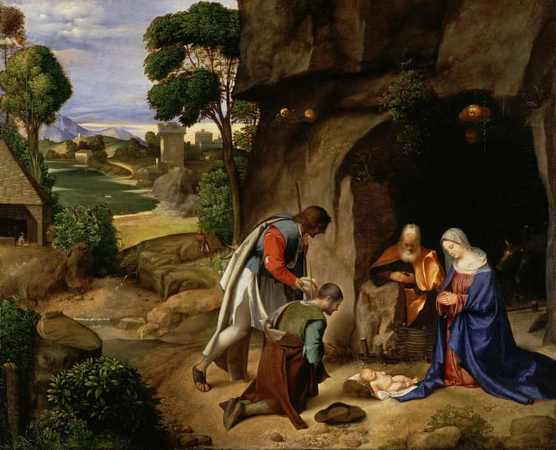 Giorgione, Natividad. Galería Nacional de Arte, Washington