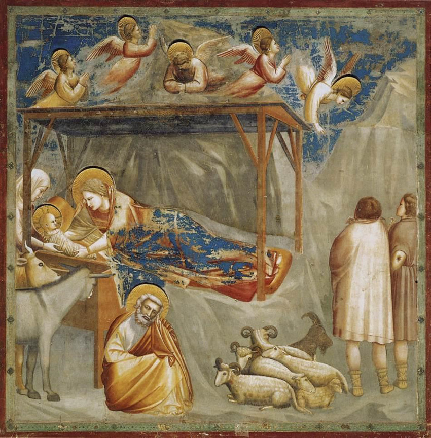 Giotto, La natividad. San Francesco. Assisi