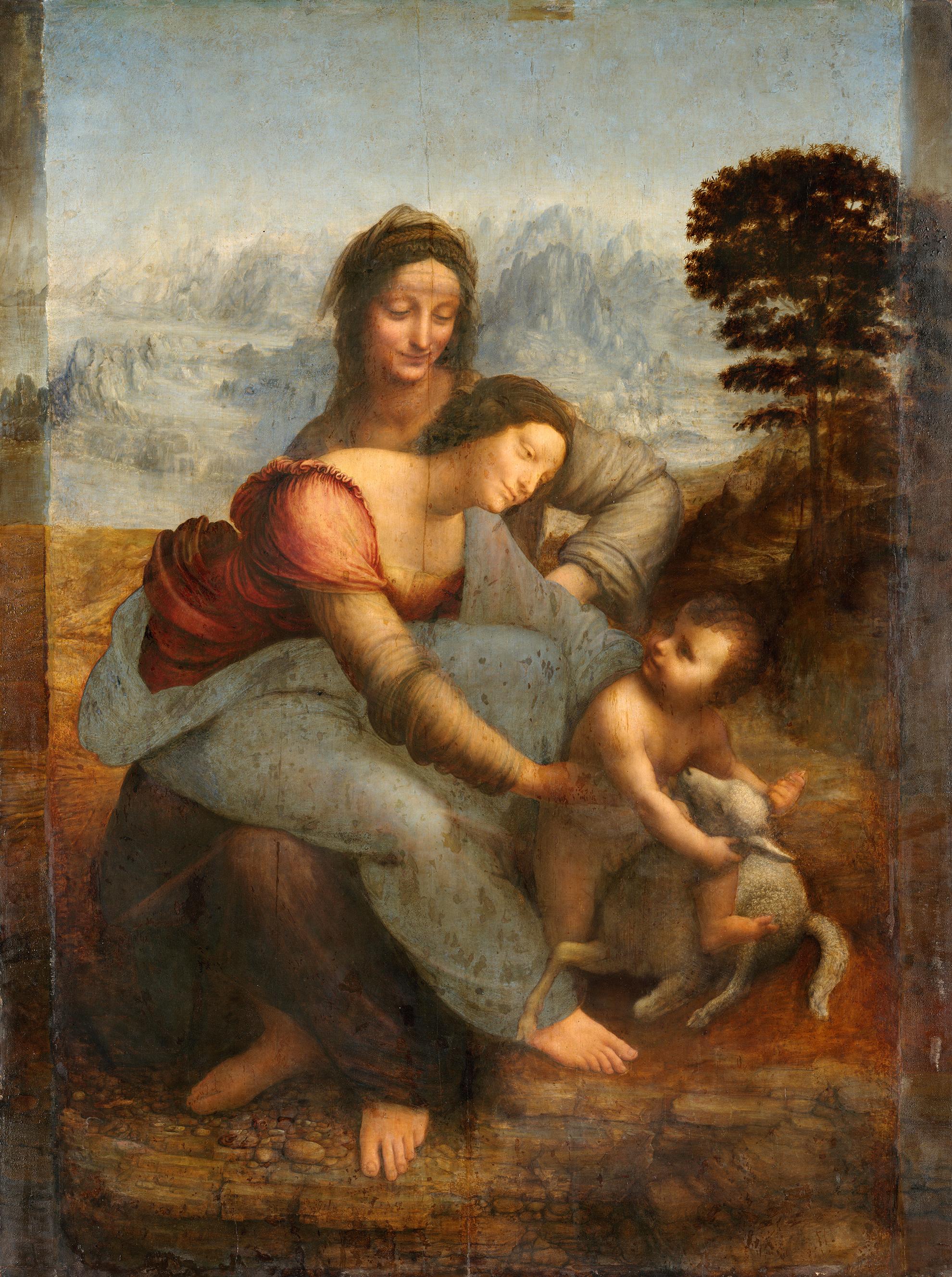 Leonardo da Vinci, Virgen y el niño con Santa Ana