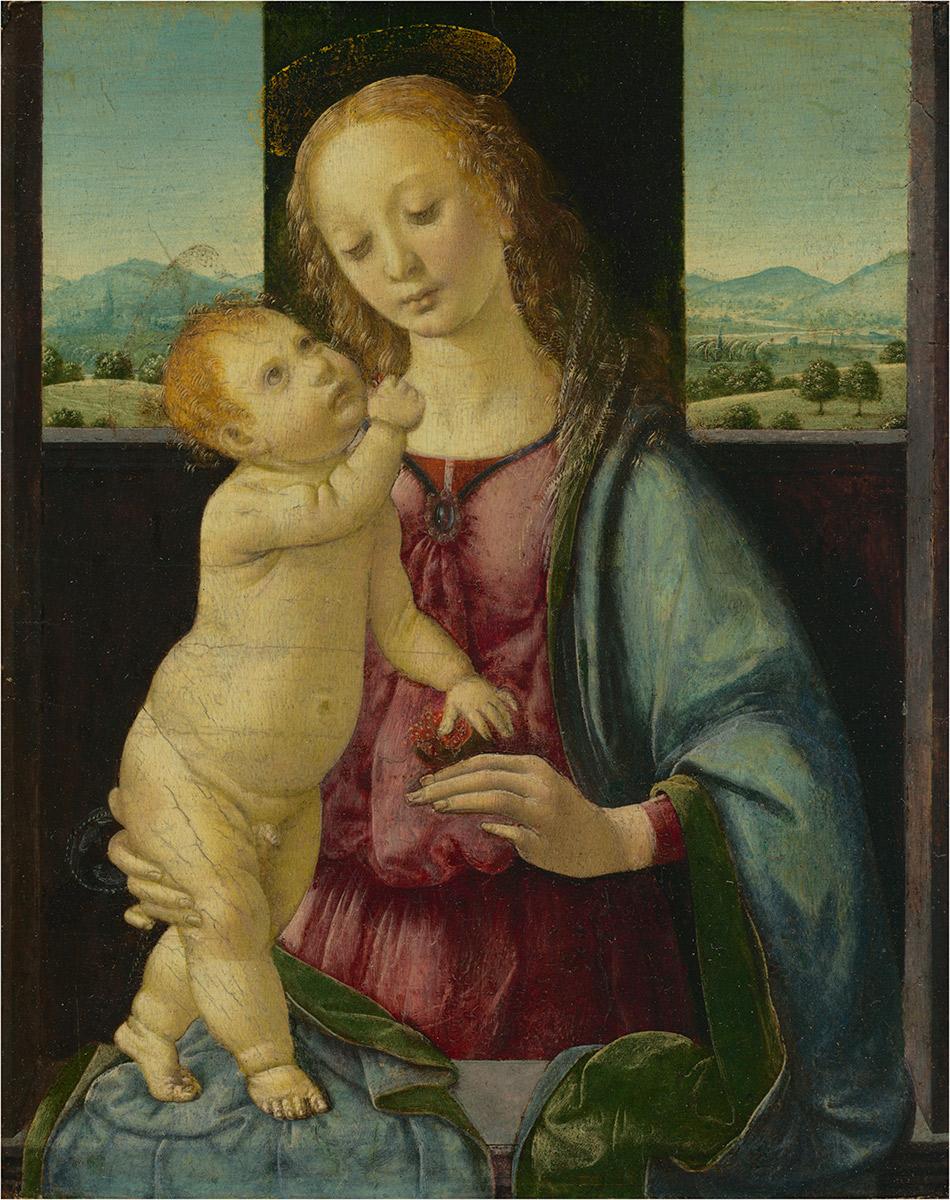 Lorenzo Di Credi, Madonna con niño y granada