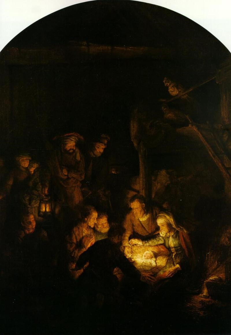 Rembrandt, Adoración de los pastores. Alte Pinakothek. Munich.