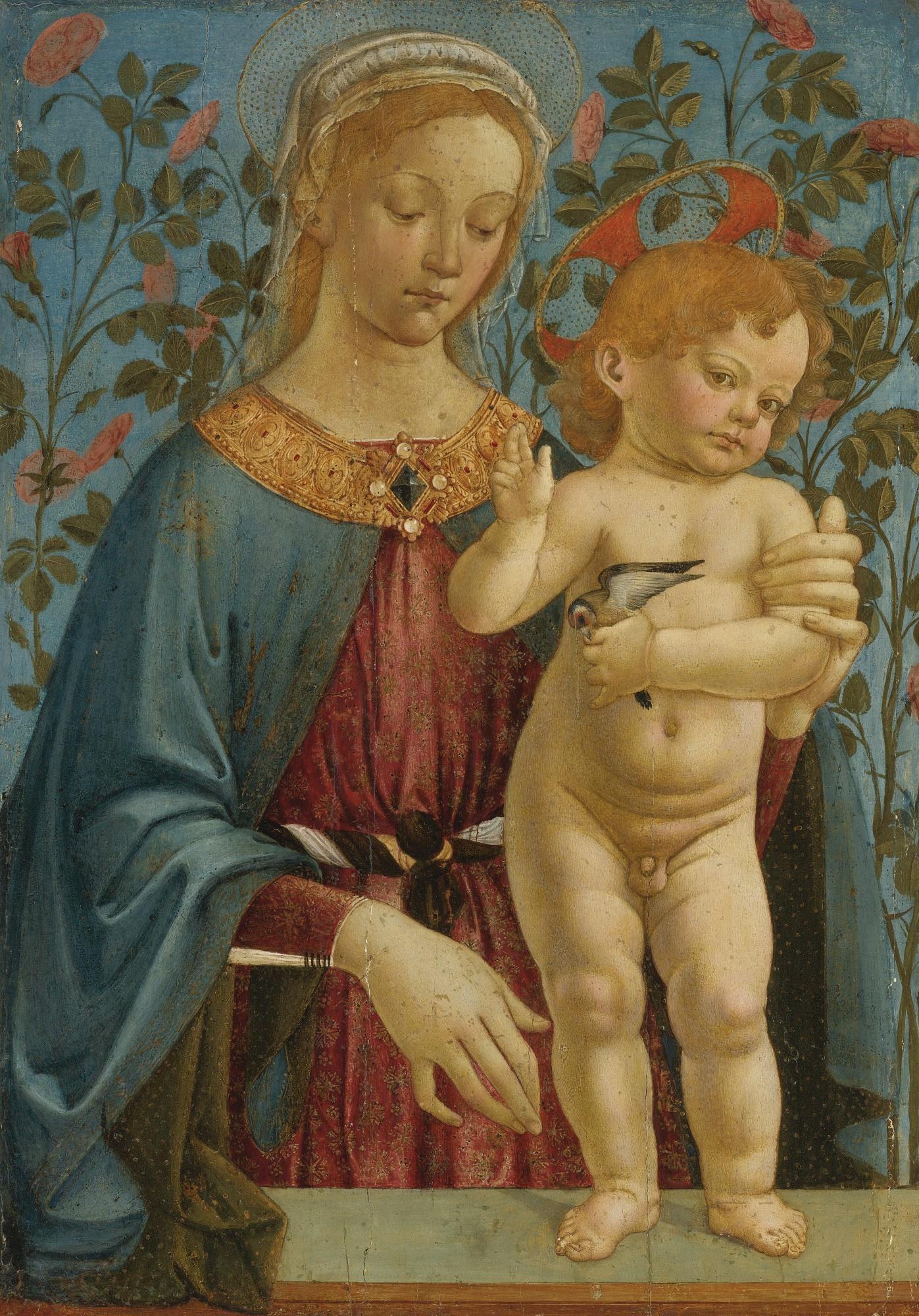Taller de Verrocchio. Madonna y el niño descansando.
