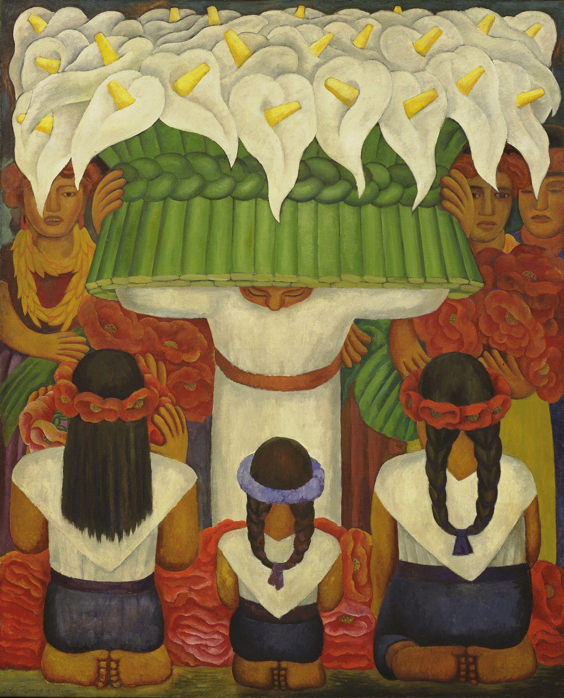 Diego Rivera, Flower Festival: Feast of Santa Anita, 1931