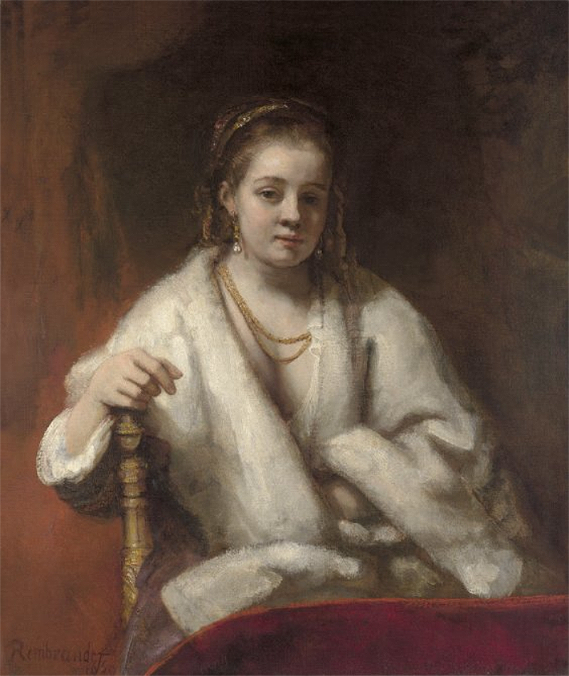 Rembrandt, Retrato de un joven con gorra negra