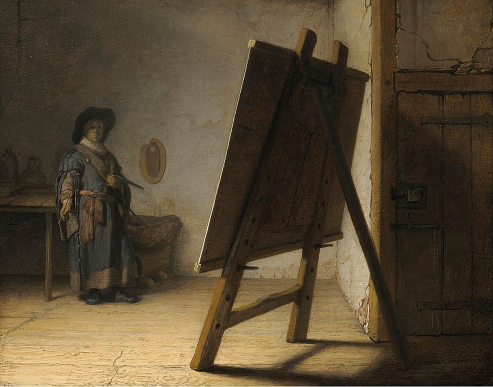Rembrandt, El artista en su estudio