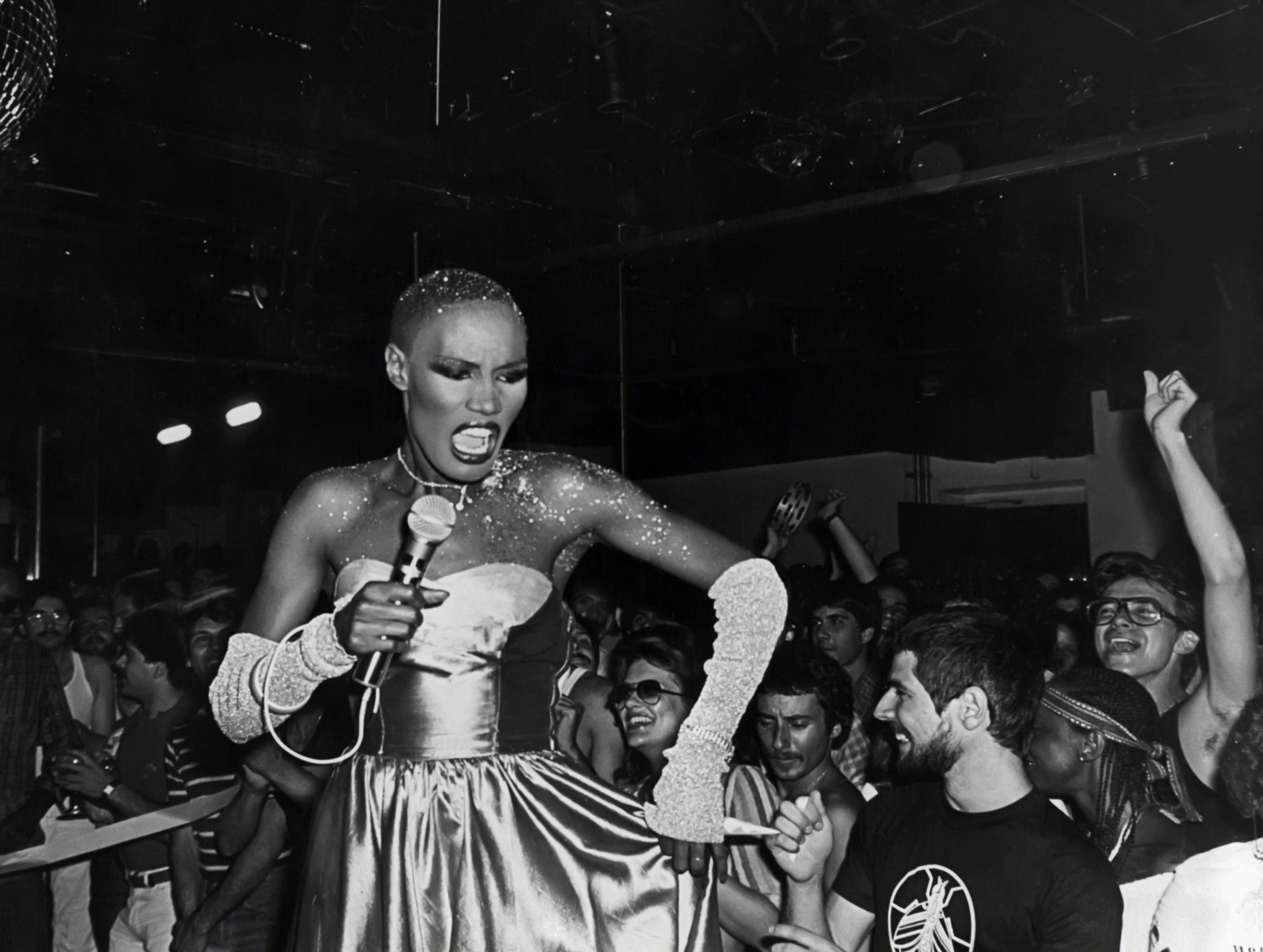 Grace Jones Studio 54 circa 1980 in New York City. Foto Sonia Moskowitz-Getty Images