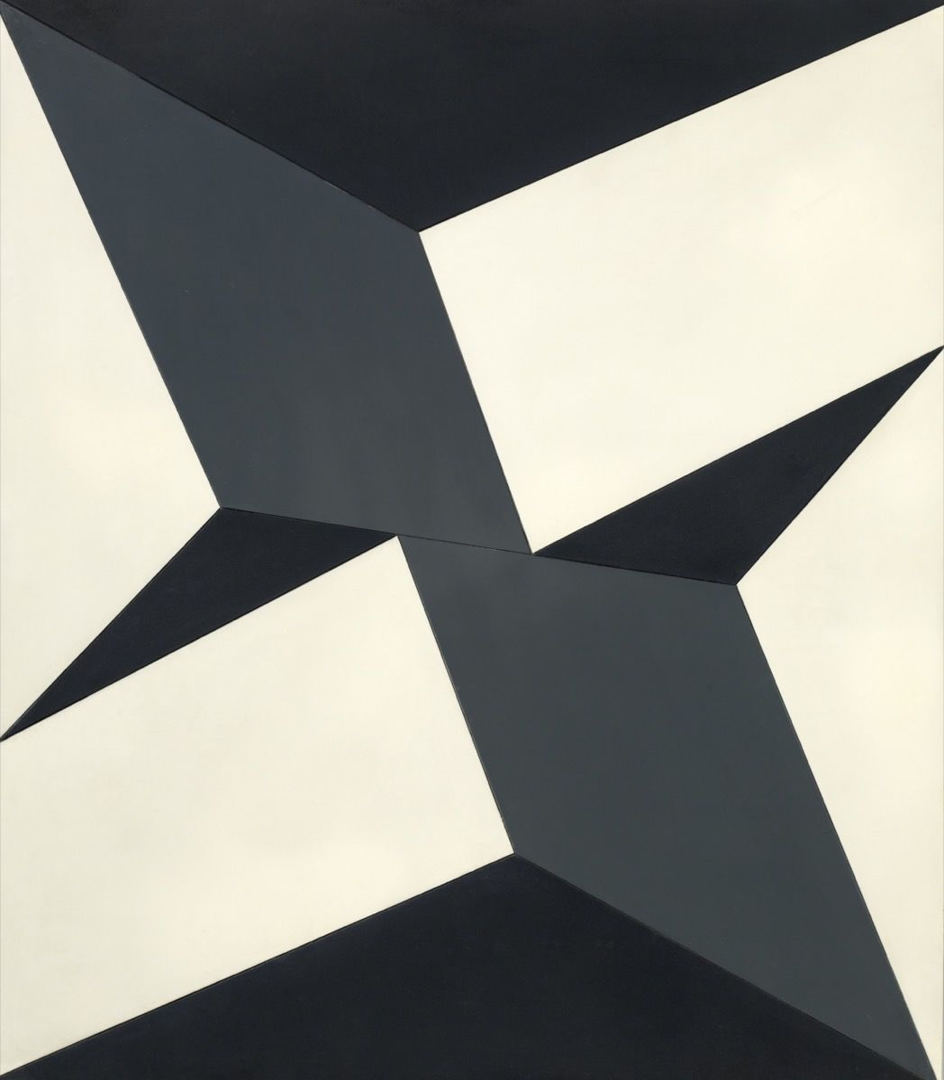 "Lygia Clark, Planes on a Modulated Surface No. 5 (Planos em superfície modulada no. 5), 1957. © ""The World of Lygia Clark"" Cultural Association. Courtesy of The Museum of Fine Arts, Houston and The Adolpho Leirner Collection of Brazilian Constructive Art."