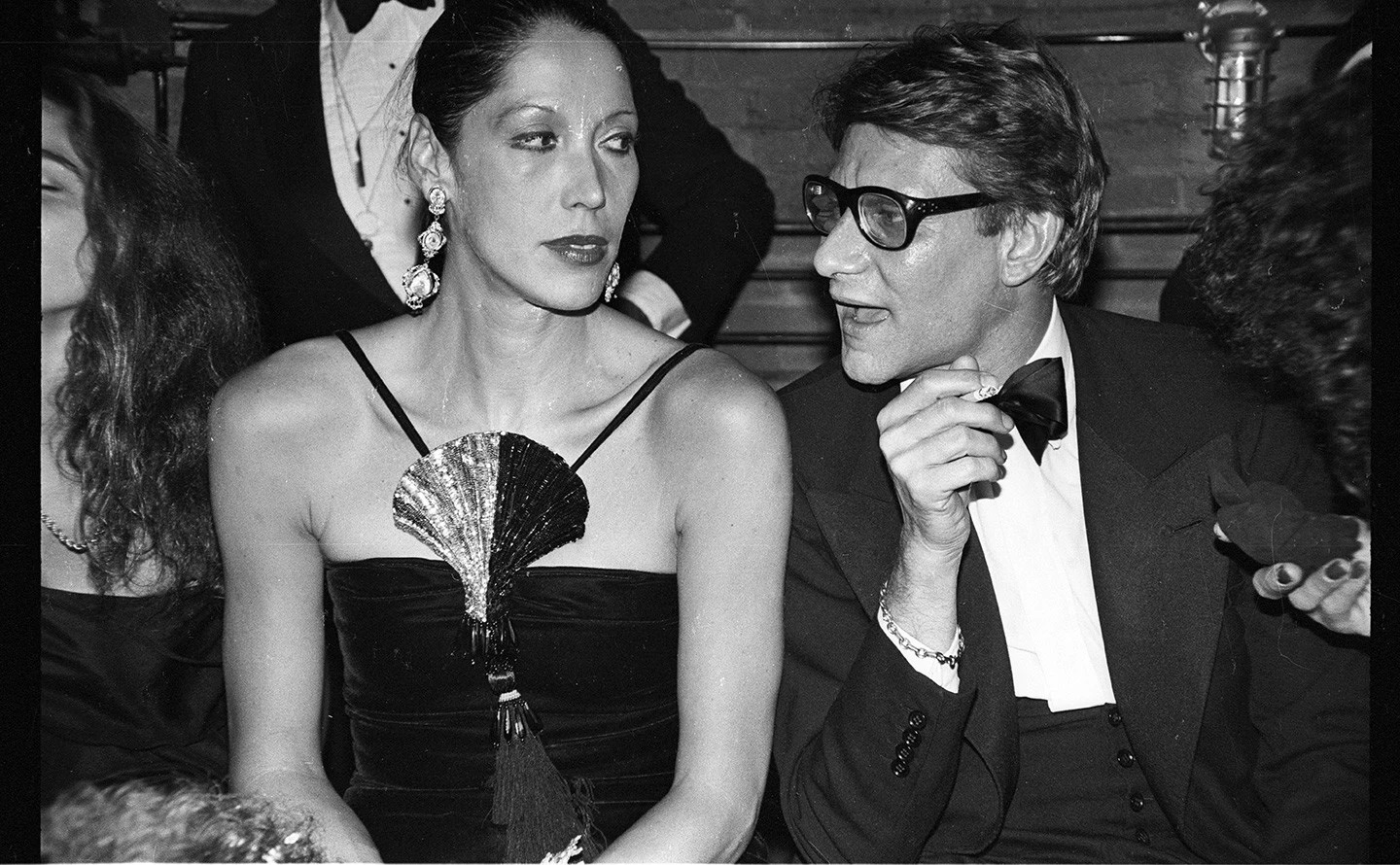 Yves Saint Laurent with Marina Schiano Foto Anton Perich
