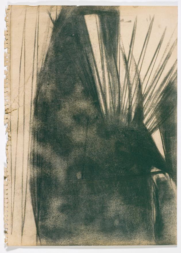 Lygia Clark, Escadas, 1951. Carboncillo sobre papel. Colección privada.