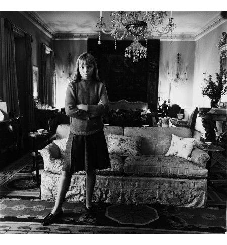 Penelope tree in her living room nyc 1962. Diane Arbus © The state of Diane Arbus