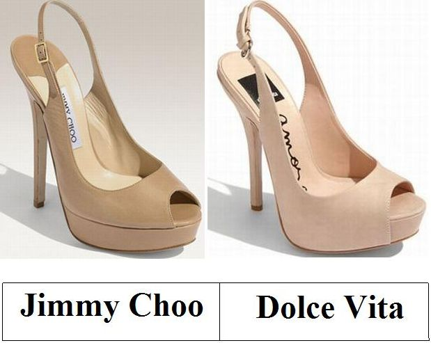 Jimmy Choo inspirado en Dolce Vita