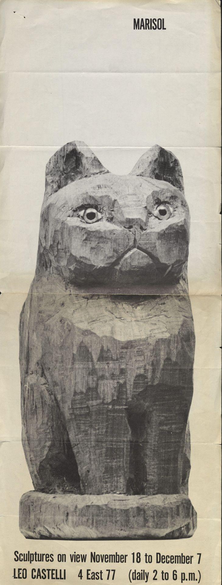 Poster Marisol on Leo Castelli 1957