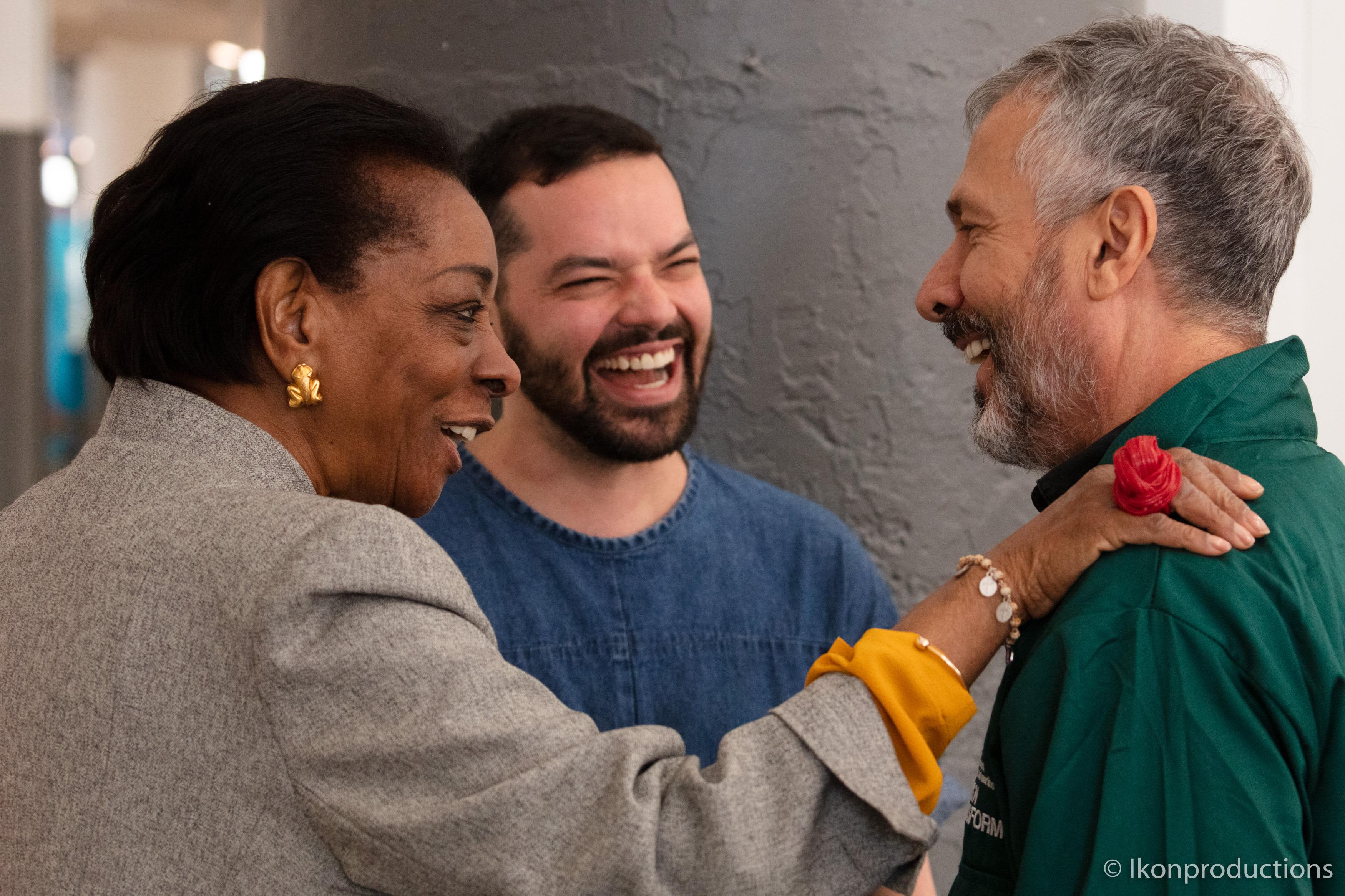 Marva Griffin, Rodolfo Agrella, Campanasen Nueva York en 2019. Foto cortesía Ikon productions