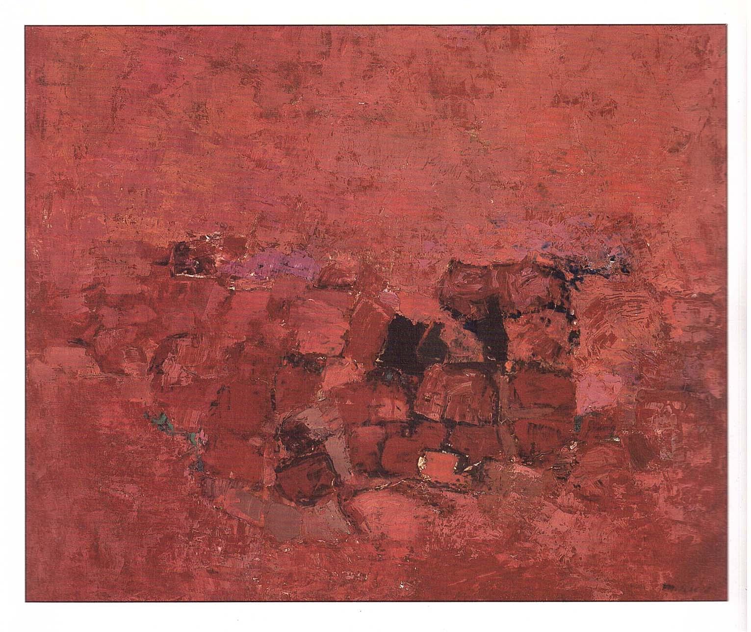 Mercedes Pardo. Sobre rojo, 1960.