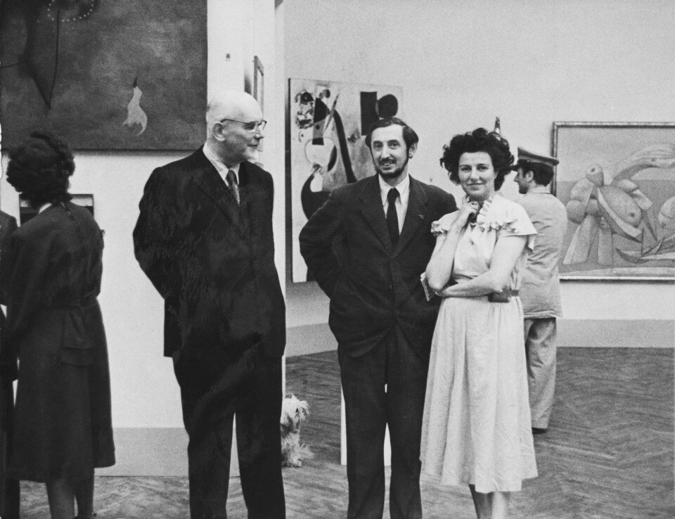 Guggenheim at the Greek Pavilion in Venice 1948