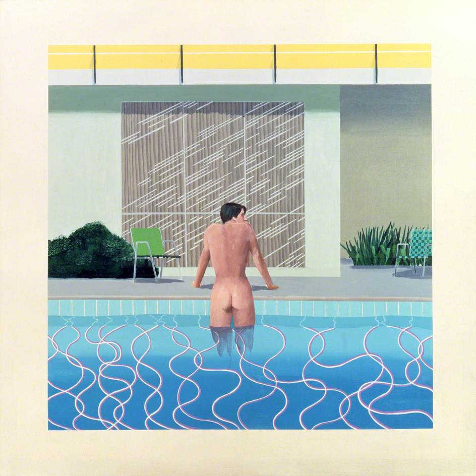 Hockney, David, b.1937; Peter Getting out of Nick's Pool