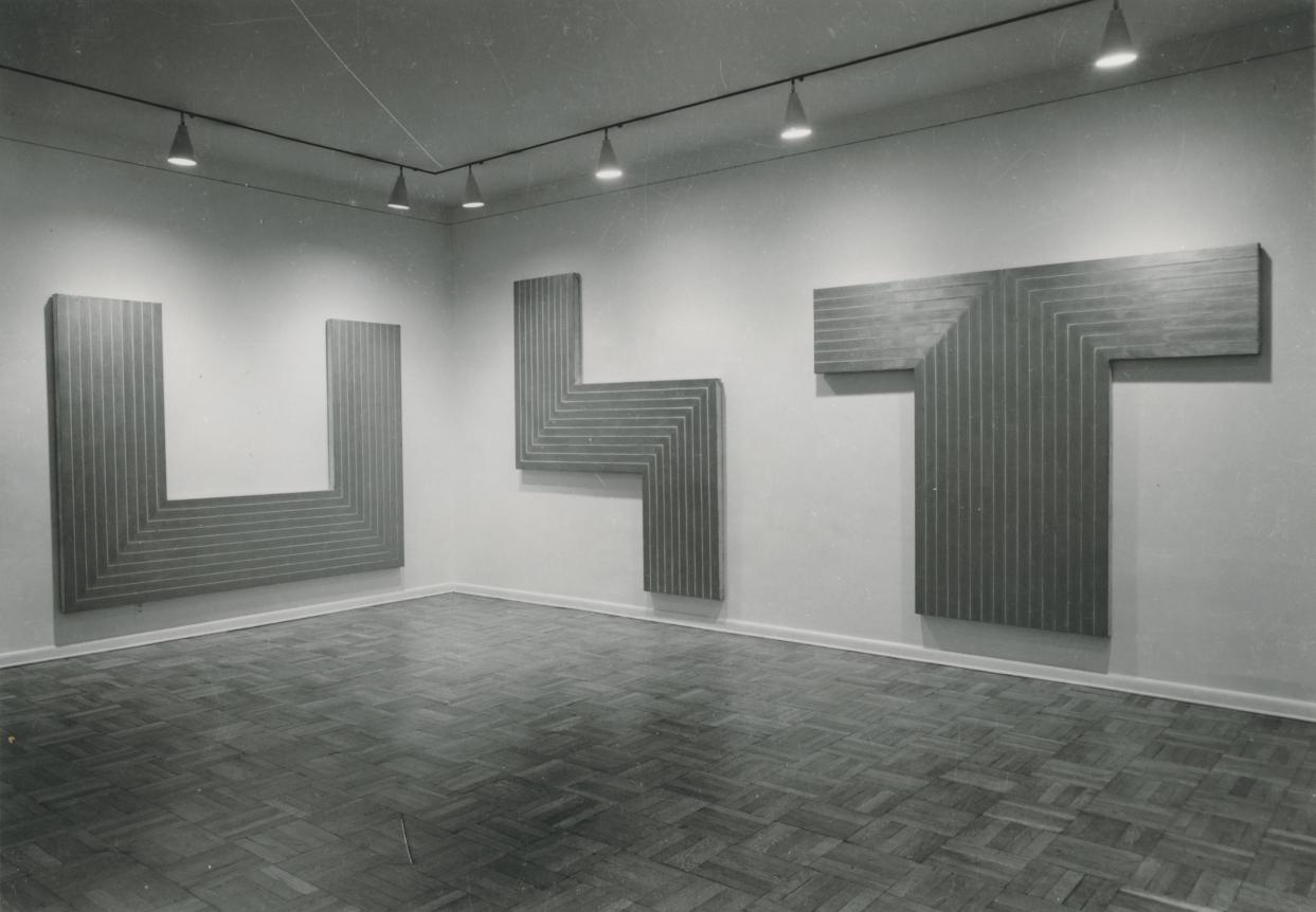 Frank Stella. Pinturas de aluminio. Galería Leo Castelli 1962