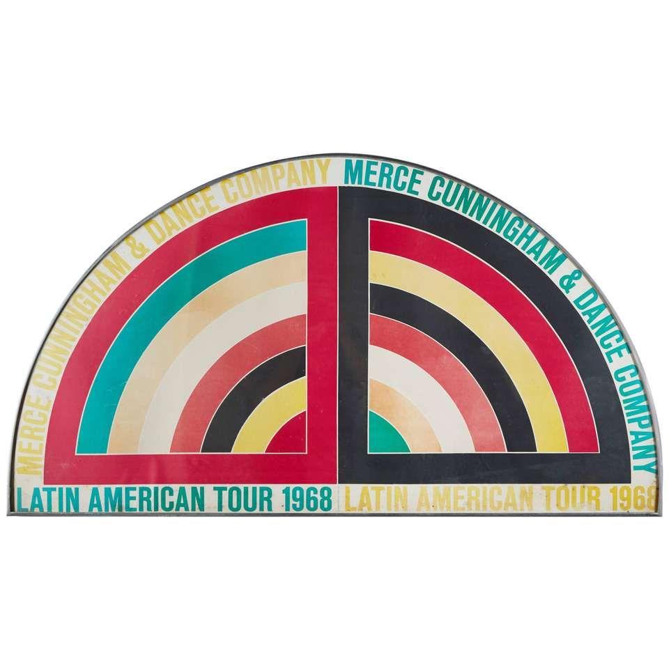 Frank Stella Logo for 1967 Merce Cunningham