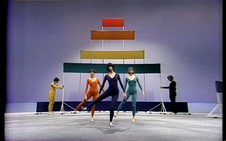 Frank Stella. Merce Cunningham ballet for TV