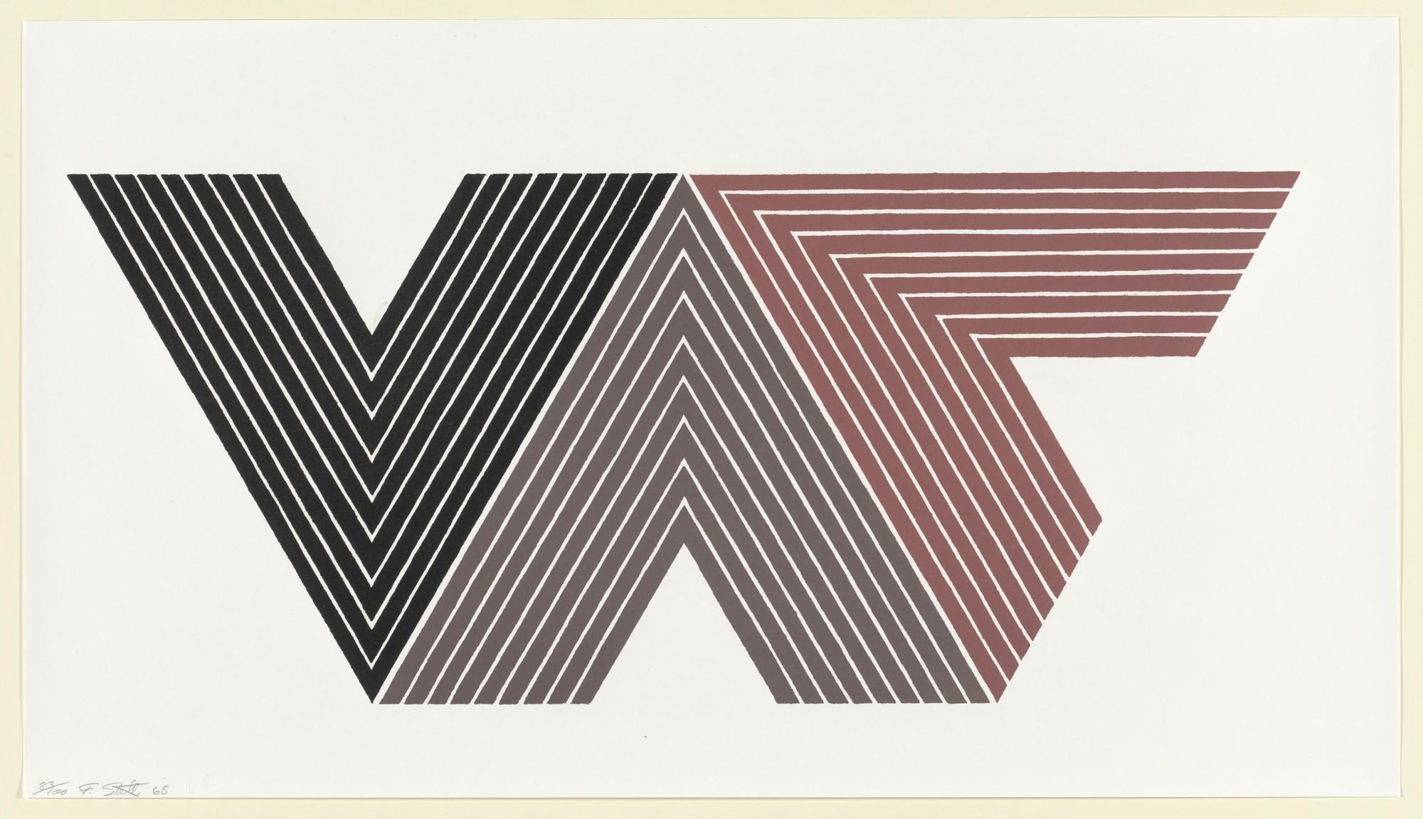 Frank Stella primera gráfica