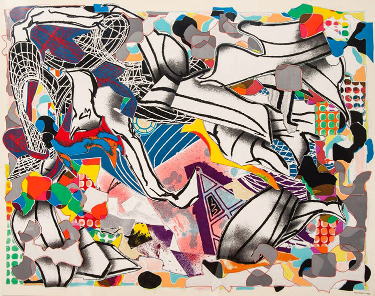 Frank Stella. Lithograph-ambergris moby dick deckle edges for sale