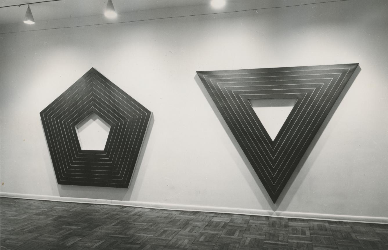 Frank Stella. Aluminio paintings. Galería Leo castelli 1960