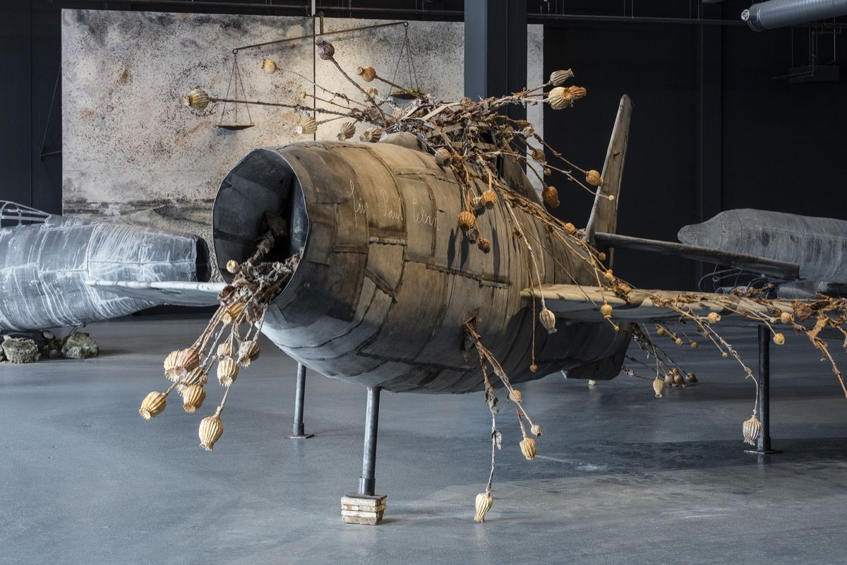 Anselm Kiefer For Louis-Ferdinand Celine Voyage au bout de la nuit 2016. Foto Anders Sune Berg courtesy of Copenhagen Contemporary