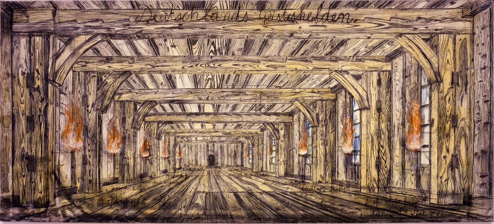 Anselm Kiefer. Germany and its spiritual leaders 1973