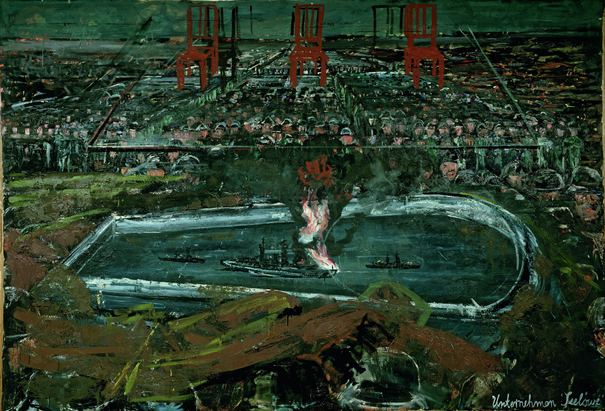 Anselm Kiefer. Operation Sea Lion 1975 Cortesía Irma and Norman Braman Florida