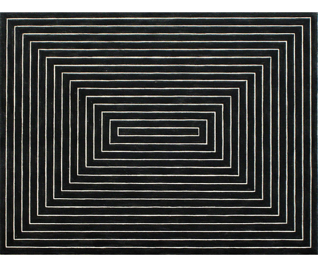 Frank Stella. Black Painting